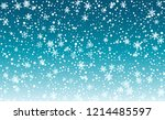 falling snow background.... | Shutterstock .eps vector #1214485597