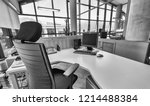 modern office with confortable... | Shutterstock . vector #1214488384