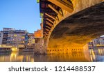 florence. ponte vecchio   old... | Shutterstock . vector #1214488537