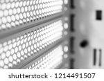 horizontal ventilation grille.... | Shutterstock . vector #1214491507