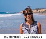 portrait view of happy baby... | Shutterstock . vector #1214500891