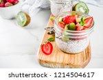 healthy dietary vegan breakfast ... | Shutterstock . vector #1214504617