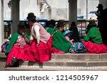 copacabana  bolivia   august 18 ... | Shutterstock . vector #1214505967