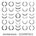 collection of different black... | Shutterstock .eps vector #1214507611