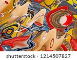 abstract composition. surreal... | Shutterstock . vector #1214507827