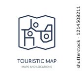touristic map icon. touristic... | Shutterstock .eps vector #1214508211