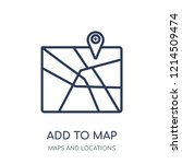 add to map icon. add to map... | Shutterstock .eps vector #1214509474