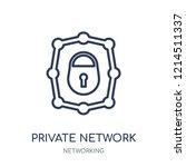 private network icon. private... | Shutterstock .eps vector #1214511337