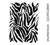 brush painted zebra pattern.... | Shutterstock .eps vector #1214512864