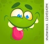 funny cartoon monster face...   Shutterstock .eps vector #1214514394