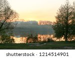summer landscape pink and... | Shutterstock . vector #1214514901