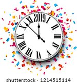 white 2019 new year background... | Shutterstock .eps vector #1214515114