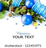 christmas. christmas and new... | Shutterstock . vector #121451971