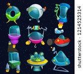 space ships set | Shutterstock .eps vector #1214525314
