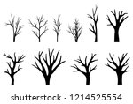 collection of trees silhouettes ... | Shutterstock .eps vector #1214525554