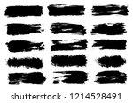 vector set of hand drawn brush... | Shutterstock .eps vector #1214528491