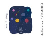 look at this card universe... | Shutterstock .eps vector #1214530084