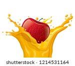 illustration of apple juice... | Shutterstock .eps vector #1214531164