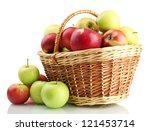 Juicy Apples In Basket ...