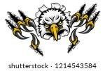 an eagle bird sports mascot... | Shutterstock .eps vector #1214543584