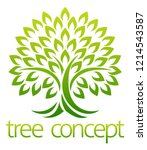 tree icon concept of a stylised ... | Shutterstock .eps vector #1214543587