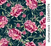 beautiful pattern with big... | Shutterstock . vector #1214545774
