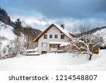 winter in schwarzwald. the...   Shutterstock . vector #1214548807