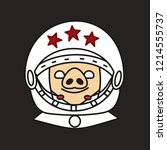 emoji with happy smiling soviet ... | Shutterstock .eps vector #1214555737