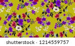 seamless floral pattern in... | Shutterstock .eps vector #1214559757