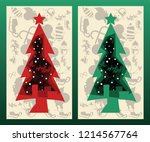 christmas background vector... | Shutterstock .eps vector #1214567764
