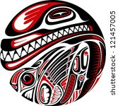 haida style tattoo design...