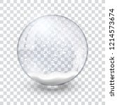 snow globe ball realistic new... | Shutterstock .eps vector #1214573674