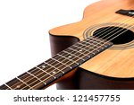 Wooden Acoustic Guitar Isolate...