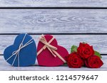 Two Heart Shaped Gift Boxes And ...