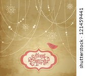 vintage christmas background ... | Shutterstock .eps vector #121459441