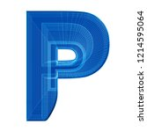the letter p in a distinctive... | Shutterstock . vector #1214595064