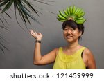 happy and healthy woman with...   Shutterstock . vector #121459999