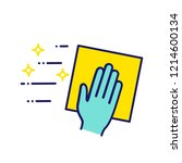 cleaning napkin color icon.... | Shutterstock .eps vector #1214600134