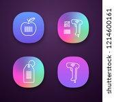 barcodes app icons set. ui ux...