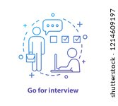 job interviewing concept icon.... | Shutterstock .eps vector #1214609197