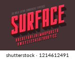 condensed 3d display font... | Shutterstock .eps vector #1214612491