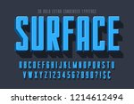 condensed 3d display font... | Shutterstock .eps vector #1214612494