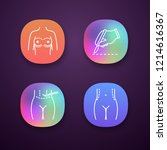 plastic surgery app icons set.... | Shutterstock .eps vector #1214616367
