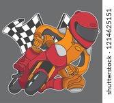 design mini motorbike racing... | Shutterstock .eps vector #1214625151