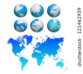 world map background | Shutterstock . vector #121462939