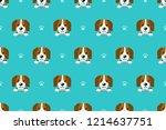 vector cartoon character beagle ... | Shutterstock .eps vector #1214637751