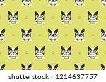 vector cartoon character boston ... | Shutterstock .eps vector #1214637757