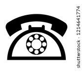 vector retro old phone icon.... | Shutterstock .eps vector #1214641774