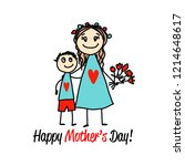 happy mother's day. greeting... | Shutterstock .eps vector #1214648617