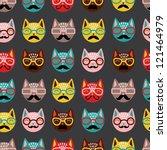 cats seamless pattern | Shutterstock .eps vector #121464979